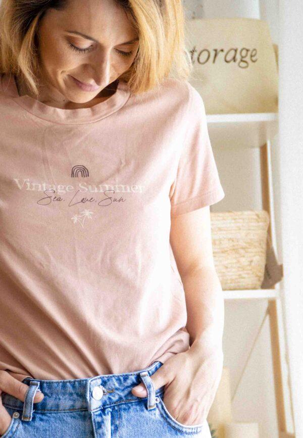 Тниска Vintage Summer розова