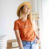 """Тениска от памук """"Препечен портокал"""""""