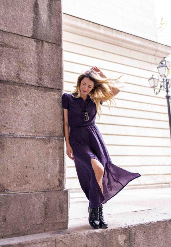 Дълга рокля риза TARA с цепки