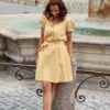 Къса жълта рокля LIMONCELLO